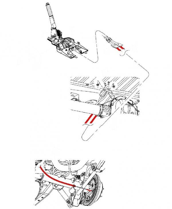Linka hamulca postojowego Jeep Wrangler JK 4-DR 2007-