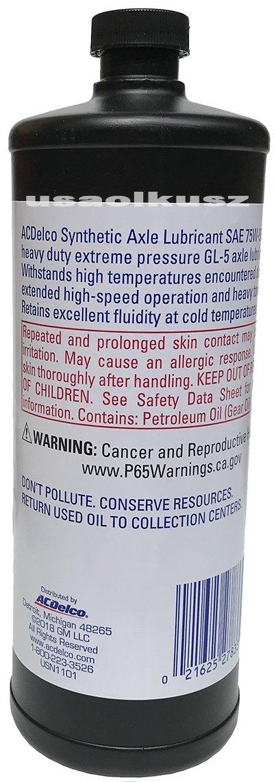 75W90 olej przekładniowy syntetyczny ACDelco 10-4016 75W-90 88900401
