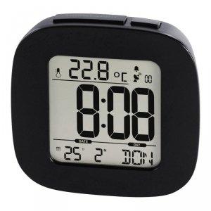 Zegar Hama DCF z budzikiem RC45, czarny