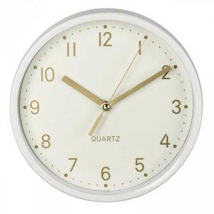 Zegar stołowy Hama Golden biały