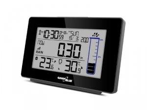 Stacja pogody bezprzewodowa GreenBlue GB541 kolorowa z systemem DCF ilość opadów deszczu, kalendarz, termometr