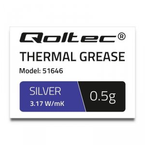Pasta termoprzewodząca Qoltec 3.17 W/m-K| 0.5g | srebrna