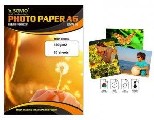 Papier fotograficzny Savio PA-02 A6 115g/m2 50 szt. błysk