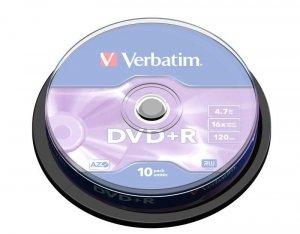 DVD+R Verbatim 16x 4.7GB (Cake 10) MATT SILVER