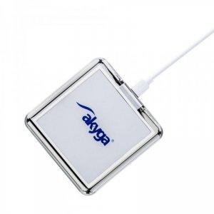 Akyga ładowarka indukcyjna QI AK-QI-02 1,5A biała