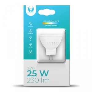 Żarówka LED G4 MR11 3W 12V 4500K 230lm Ceramiczna Forever Light