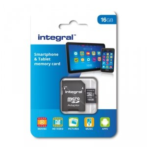 Integral karta pamięci 16GB MICRO SDHC CL10 UHS 1 90 MB/S + ADAPTER SMARTPHONE & TABLET