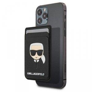 Karl Lagerfeld wsuwka KLWMSCHSFBK czarna Saffiano Karl`s Head MagSafe