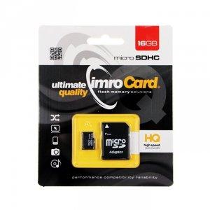 IMRO MicroSDHC 16GB kl.10 UHS-I z adapterem
