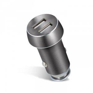 Forever ładowarka samochodowa PCC-04 2x USB 3.1A srebrna
