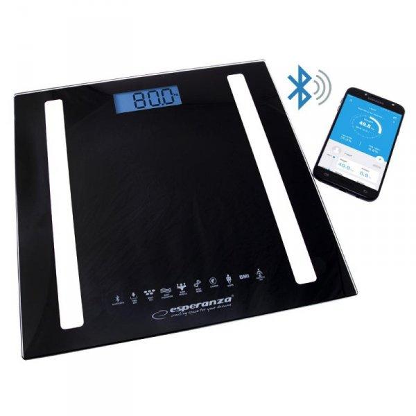 Waga łazienkowa Esperanza EBS016K 8w1 Bluetooth B.Fit cyfrowa analityczna czarna