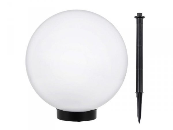 Lampa solarna GreenBlue GB166 wolnostojaca ogrodowa kula 25x25x58cm, bialy LED