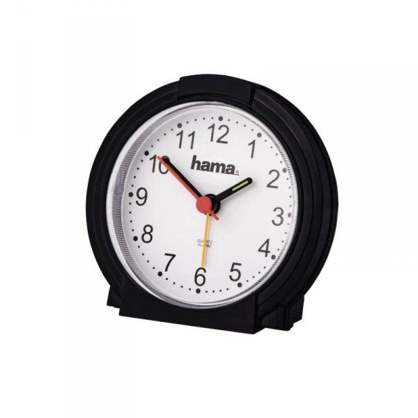 Zegar budzik Hama classic, czarny