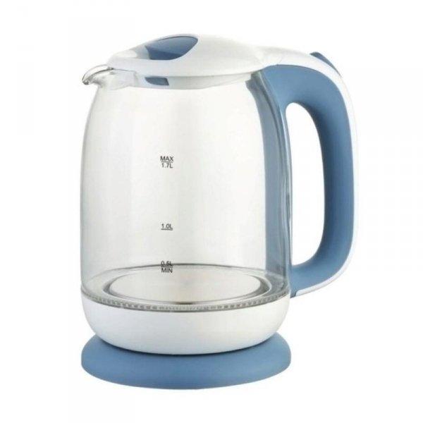 Czajnik elektryczny szklany Maestro MR056 1,7l, 2200W biało-niebieski