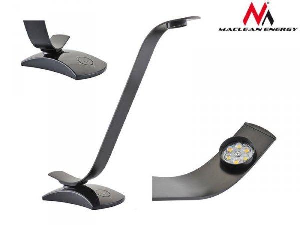 Lampa biurkowa metalowa Maclean MCE110 LED 6 Watt regulacja jasności i barwy, czarna