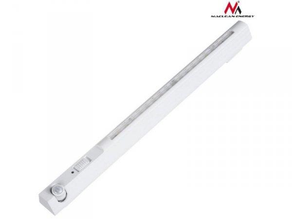 Lampa LED z sensorem ruchu Maclean MCE235, haczyk, temperatura 4000K, zasięg 3m, 3xAAA, ON/OFF/AUTO2 ruchomy pir