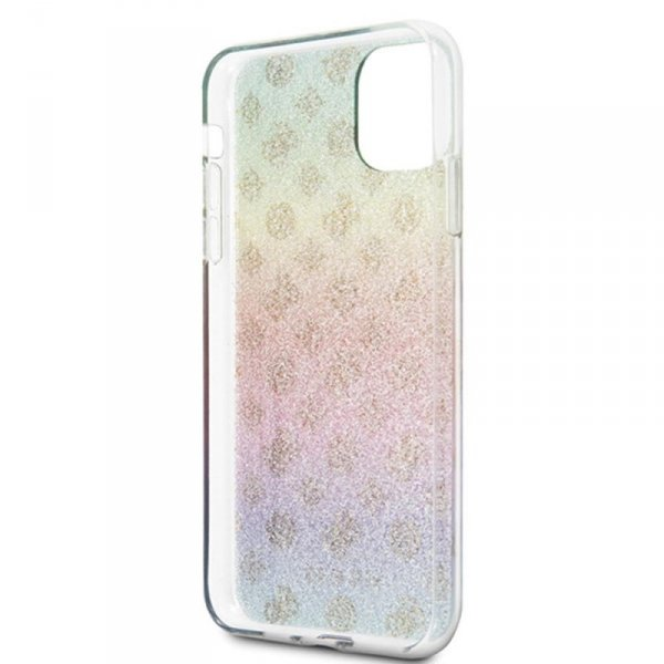 Guess nakładka do iPhone 11 Pro Max GUHCN65PEOML wielokolorowe hard case Iridescent 4G Peony