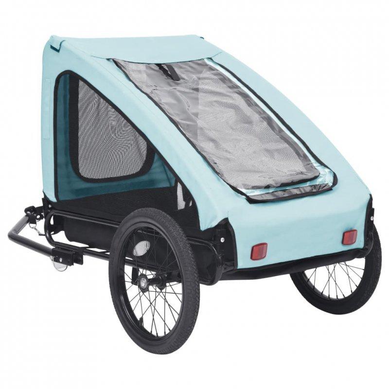 Przyczepka rowerowa dla zwierzaka, niebiesko-czarna