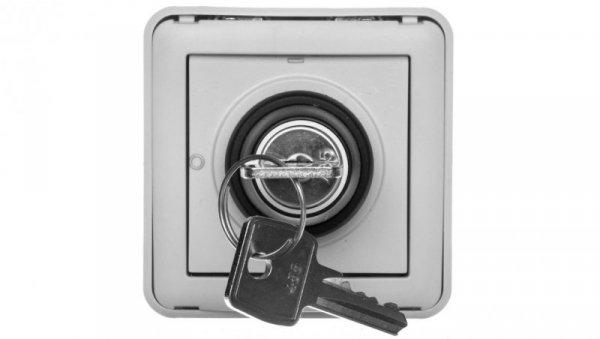 PLEXO55 Łącznik z kluczykiem 3 pozycje szary 069535
