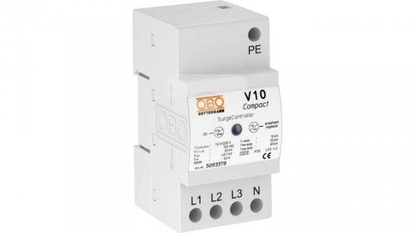 Ogranicznik przepięć C Typ 2+D 4P 10kA 1,1kV V10 COMPACT 255 5093380
