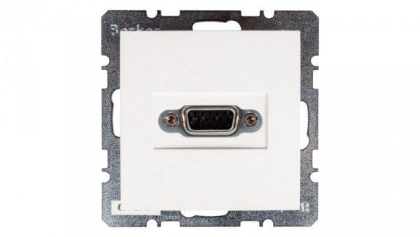 Berker/B.Kwadrat Gniazdo VGA śnieżnobiałe 3315408989