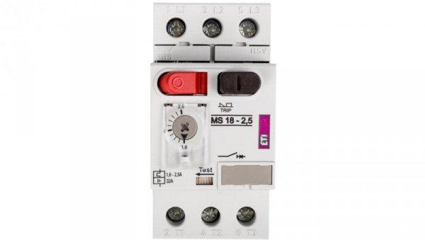 Wyłącznik silnikowy 3P 0,75kW 1,6-2,5A MS18 004600346