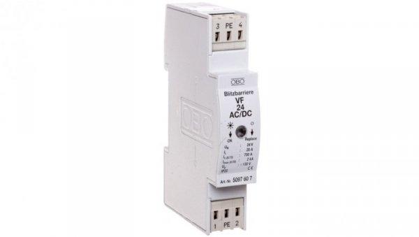 Ogranicznik przepięć dla systemów dwużyłowych 80VDC 0,7kA 1,2kV VF24-AC/DC 5097607