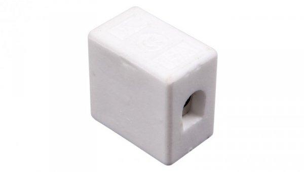 Złączka gwintowa porcelanowa 10mm2 1-tory biała CPO-15A-1P 80721516