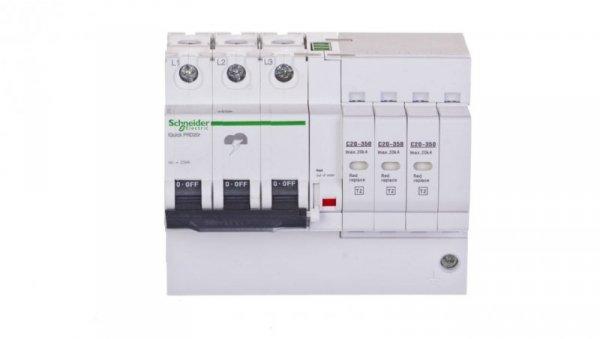 Ogranicznik przepięć C Typ 2 3P 20kA 350V IT/TN-C iPRDr A9L16296