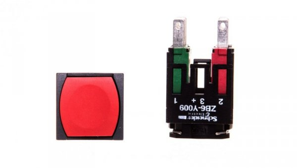 Przycisk sterowniczy 16mm czerwony z samopowrotem 1Z 1R XB6CA45B