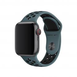 Apple pasek sportowy Nike w kolorze ciemnego turkusu / czarnym do Apple Watch 38/40 mm - Rozmiar S/M i M/L