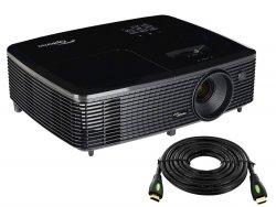 --- HDMI 10m GRATIS ---- Projektor OPTOMA H183X DLP Full 3D 720p, 25000:1, 3200AL