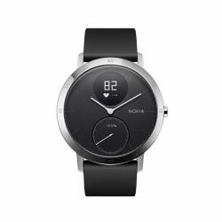 NOKIA Activité Steel HR - zegarek monitorujący aktywność fizyczną i puls iOS i Android (czarny 40mm)