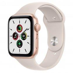 Apple Watch SE 44mm GPS Aluminium w kolorze złotym z paskiem sportowym w kolorze księżycowej poświaty