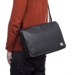 Knomo Kinsale - torba skórzana na ramię do notebooka 13 (czarna) 154-303-BLK
