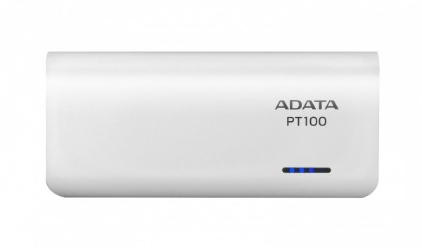 Adata PowerBank PT100 10000mAh 3.1A Biały/Niebieski