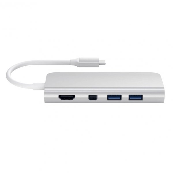 Satechi USB-C Multimedia HUB - Ethernet / USB 3.0 / USB-C PD / HDMI /mini DisplayPort / SD / microSD / Silver (srebrny)