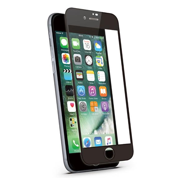KMP Szkło ochronne do iPhone 8 Plus Black (czarny)