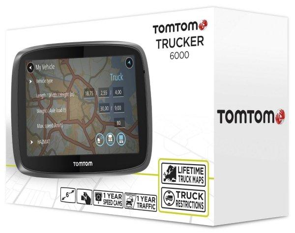 """TomTom Trucker 6000 6"""" Europa (dożywotnia aktualizacja)"""