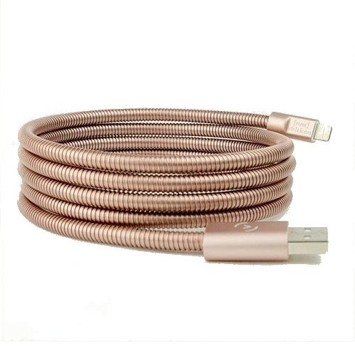 Fuse Chicken Titan ROSE GOLD- stalowy, dwuwarstwowy kabel Lightning (150cm)