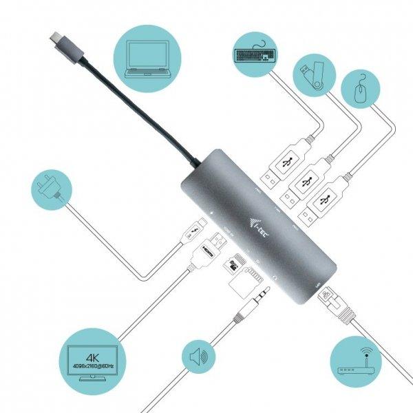 i-tec USB-C Metal Nano Docking Station 4K HDMI LAN + Power Delivery 100 W