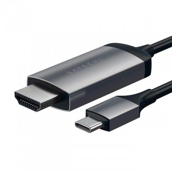 Satechi HDMI 4K 60Hz USB-C Kabel Space Gray