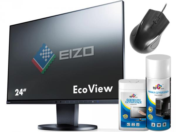 EIZO FlexScan EV2450 24 Czarny IPS FullHD HDMI DisplayPort + GRATISY