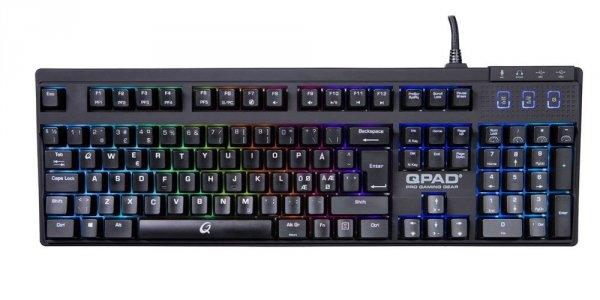 QPAD MK-90 klawiatura mechaniczna Cherry Red podświetlenie LED RGB
