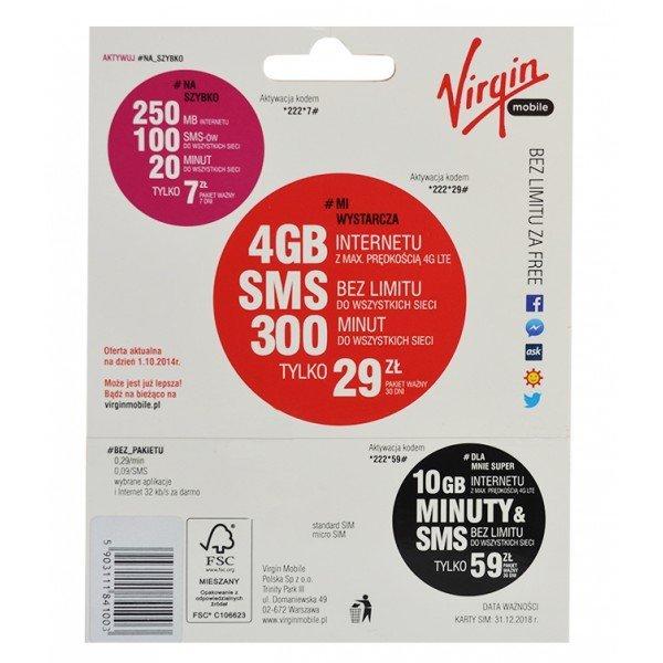 Starter Virgin Mobile 5zł