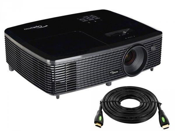 ---- GRATIS HDMI 10m ----  Projektor OPTOMA H114 DLP HD Ready 3D 720p 27000:1 3400AL