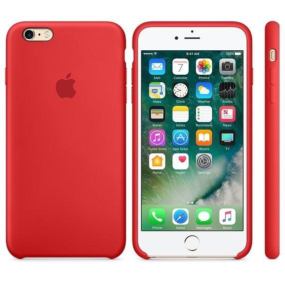 Apple Silicon Case Etui do iPhone 6/6s Red (czerwony)