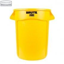 Kontener okrągły z kanałami BRUTE® 121,1L Yellow