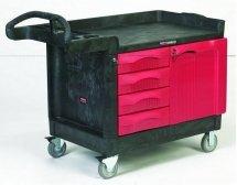 Ruchoma szafka TradeMaster z czterema szufladami i jednymi drzwiczkami