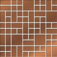 Ceramika Color Copper Glass Mosaic 25x25